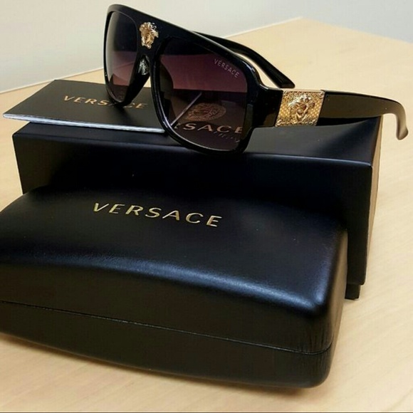 b196baca0b5c Versace Accessories | Mens Authentic Rockgold Medusa Sunglasses ...